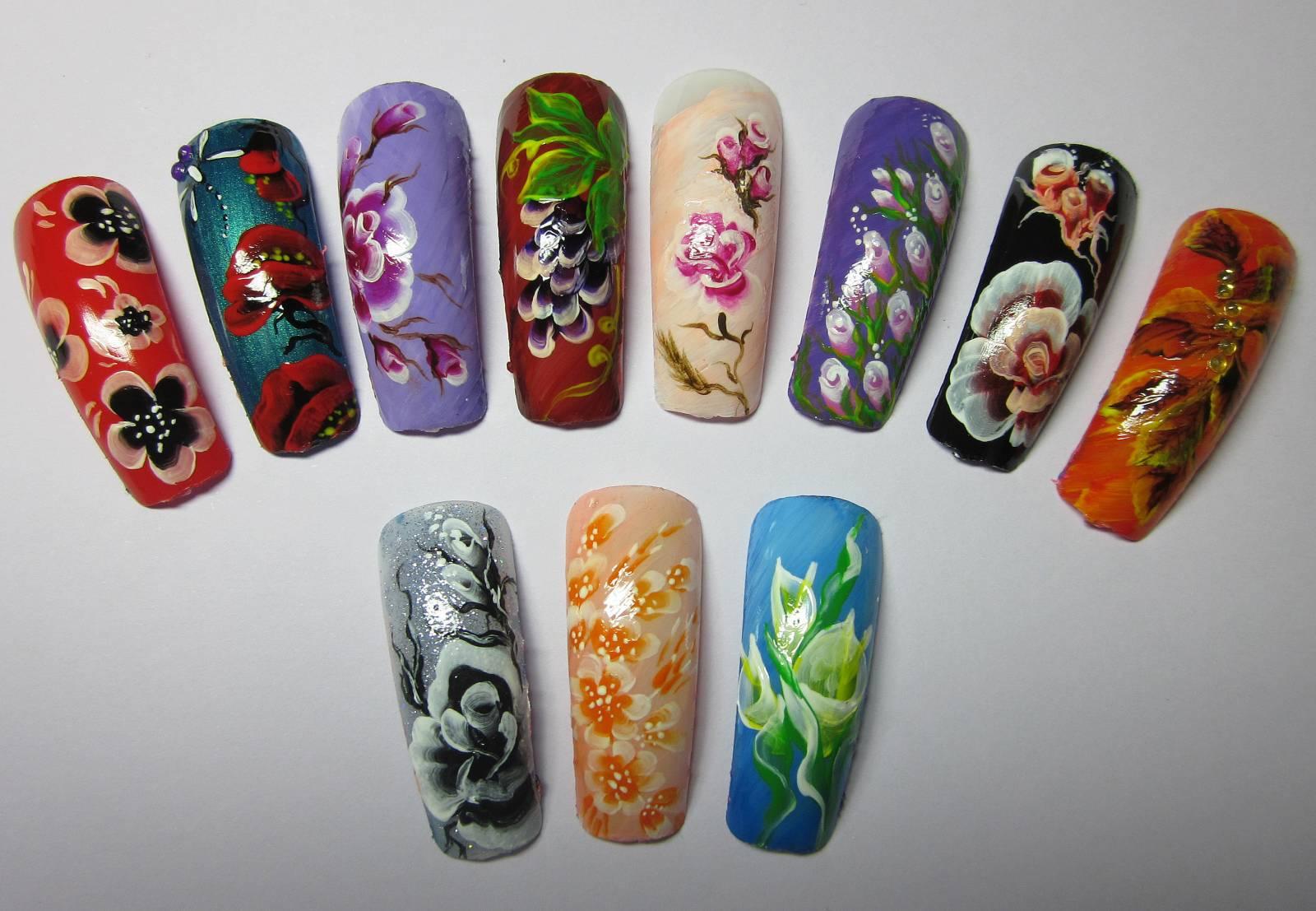 Китайская на ногтях